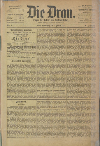 Die Drau, 1877