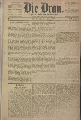 Die Drau, 1878