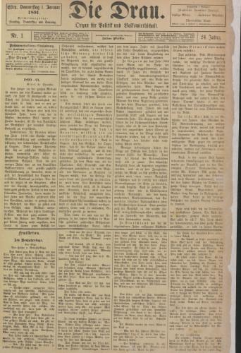 Die Drau, 1891