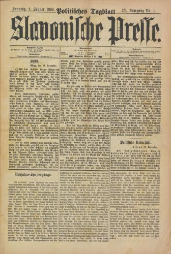 Slavonische Presse, 1899