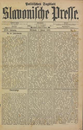 Slavonische Presse, 1902