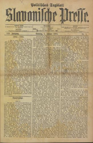 Slavonische Presse, 1905