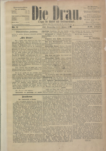 Die Drau, 1879