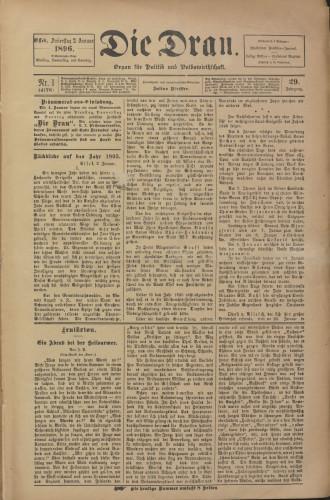 Die Drau, 1896