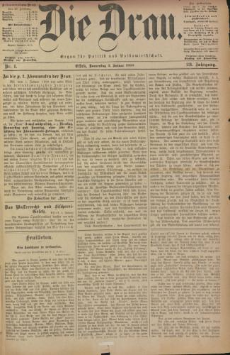 Die Drau, 1890