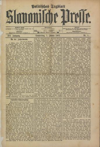 Slavonische Presse, 1903