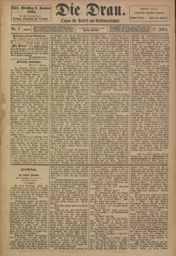 Die Drau, 1894