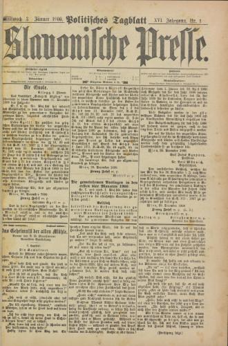 Slavonische Presse, 1900