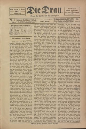 Die Drau, 1897