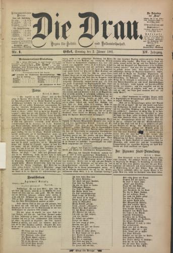 Die Drau, 1881
