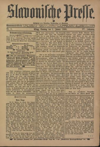 Slavonische Presse, 1888