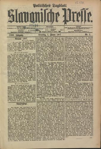 Slavonische Presse, 1907