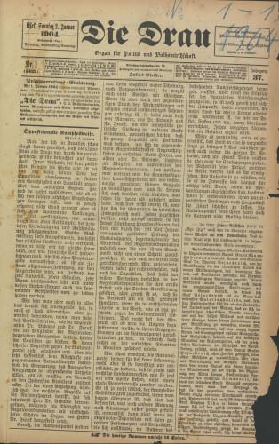 Die Drau, 1904