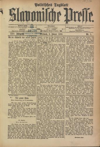 Slavonische Presse, 1906
