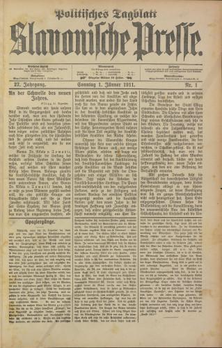 Slavonische Presse, 1911