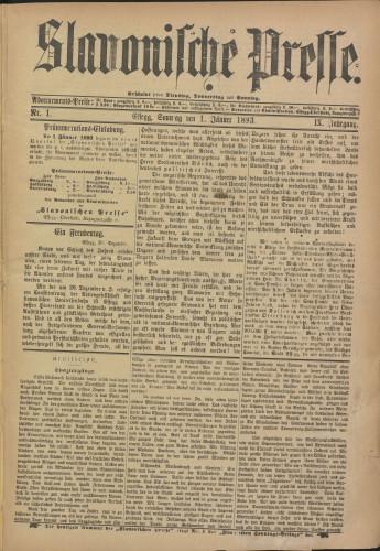 Slavonische Presse, 1893