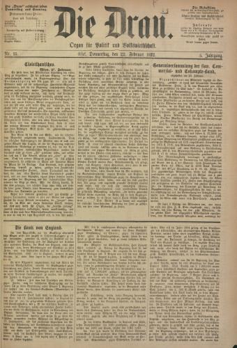 Die Drau, 1872