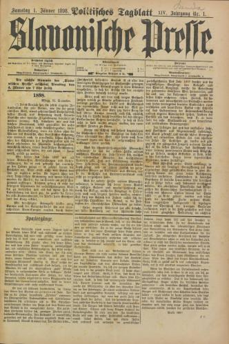 Slavonische Presse, 1898