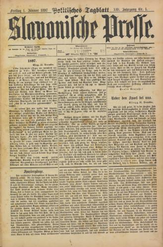 Slavonische Presse, 1897