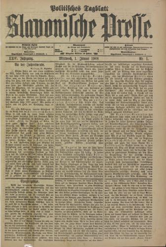 Slavonische Presse, 1908