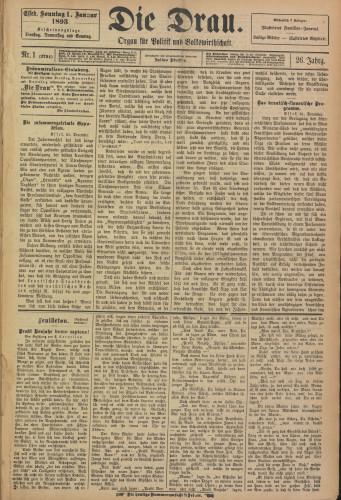 Die Drau, 1893