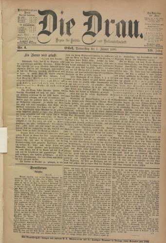 Die Drau, 1880