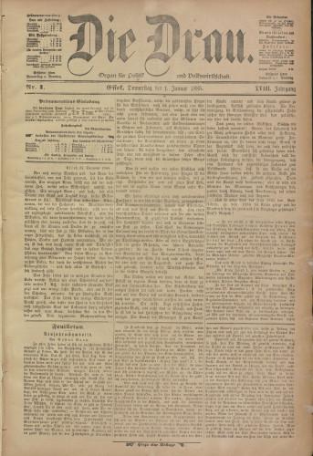 Die Drau, 1885