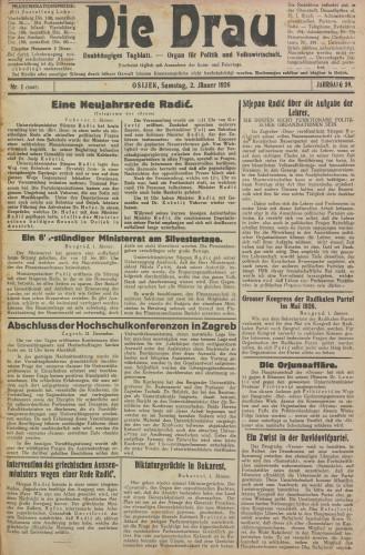 Die Drau, 1926