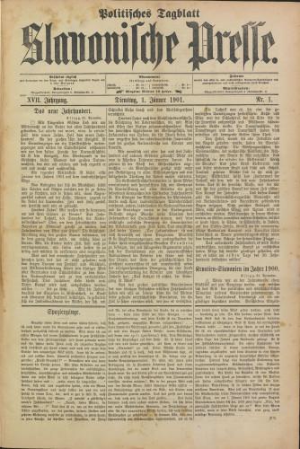 Slavonische Presse, 1901