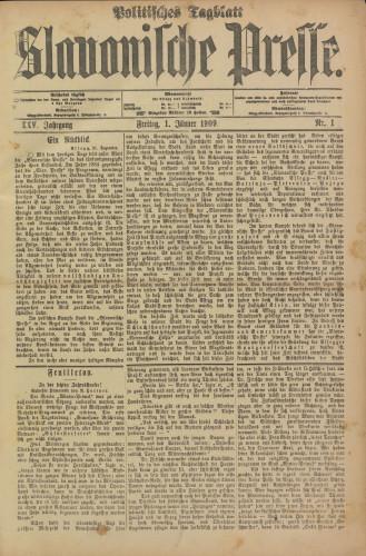 Slavonische Presse, 1909