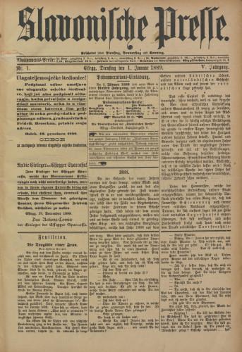 Slavonische Presse, 1889