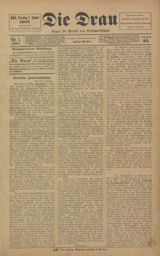 Die Drau, 1900