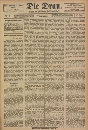Die Drau, 1892