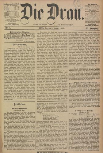 Die Drau, 1887