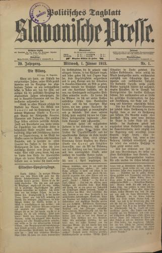 Slavonische Presse, 1913