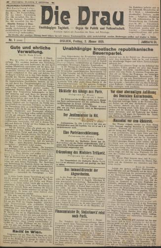 Die Drau, 1925