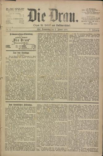 Die Drau, 1874