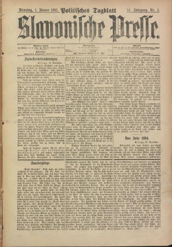 Slavonische Presse, 1895