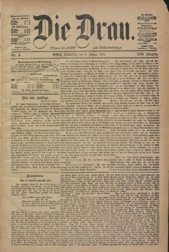 Die Drau, 1884