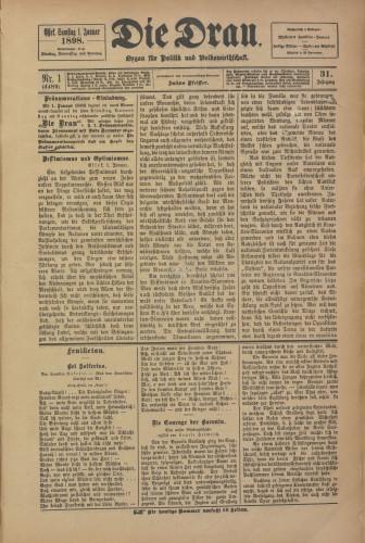 Die Drau, 1898