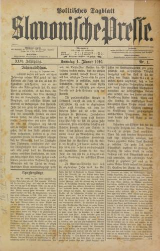 Slavonische Presse, 1910