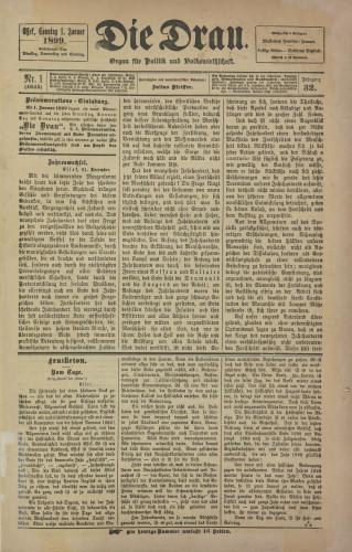 Die Drau, 1899