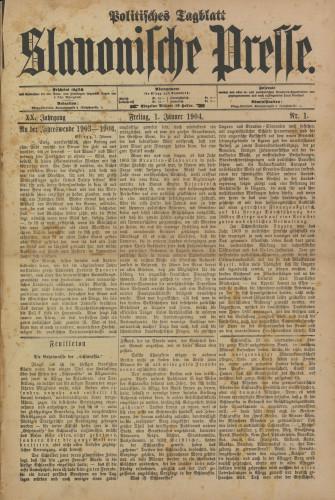 Slavonische Presse, 1904